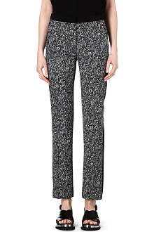 SANDRO Regular-fit printed trousers