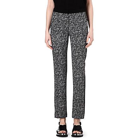 SANDRO Paris printed trousers (Black