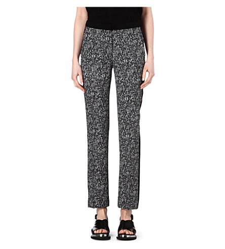 SANDRO Paris printed trousers (Black