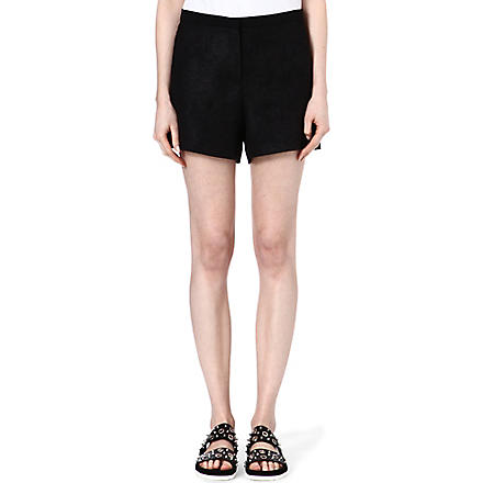 SANDRO Pistache distressed shorts (Black