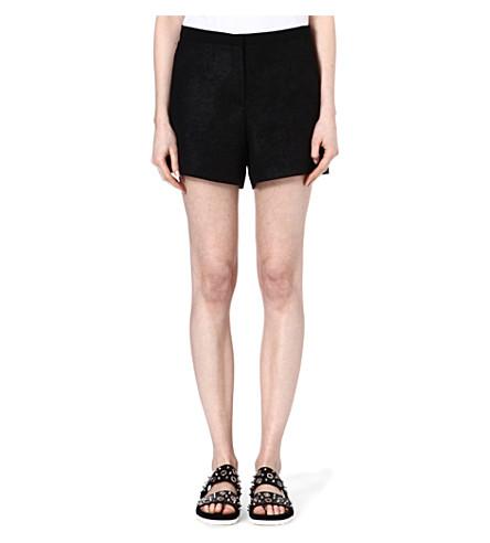 SANDRO Pistache distressed shorts (Black