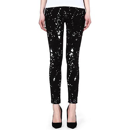 SANDRO Peinture splatter paint jeans (Black