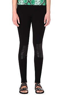 SANDRO Parfum perforated leather leggings