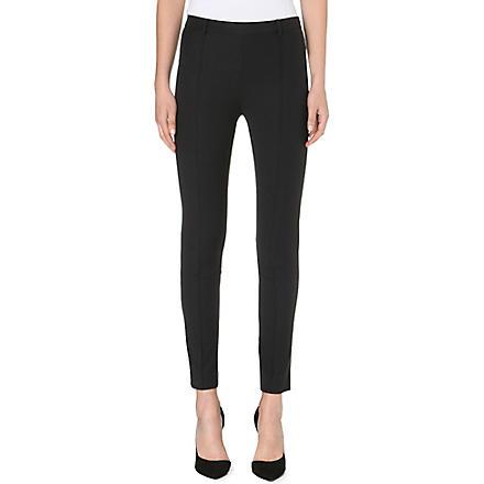 SANDRO Pretty woven trousers (Black