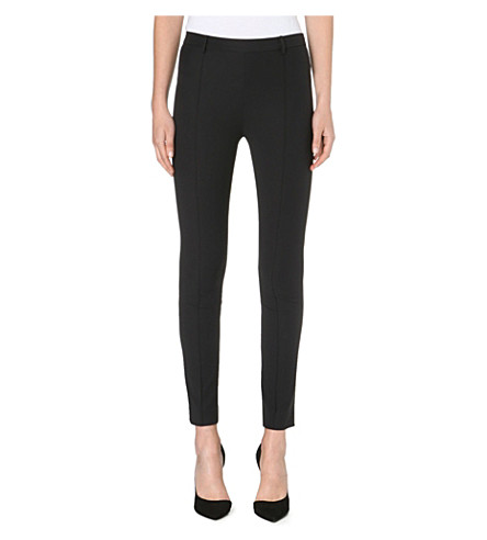 SANDRO Pretty woven trousers (Black