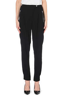 SANDRO Crepe trousers