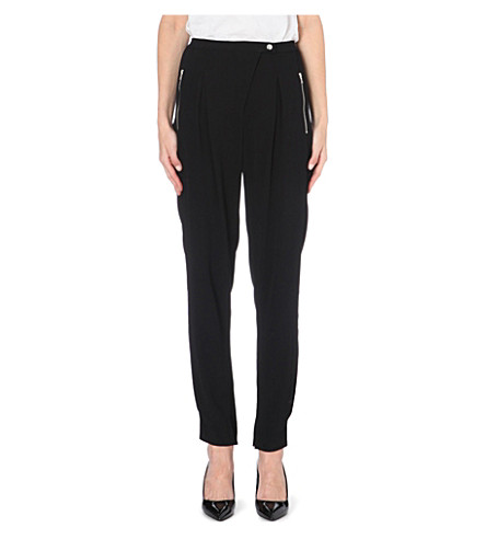 SANDRO Crepe trousers (Black