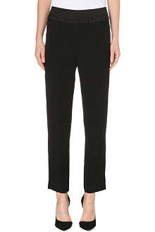SANDRO Phoenix smooth crepe trousers
