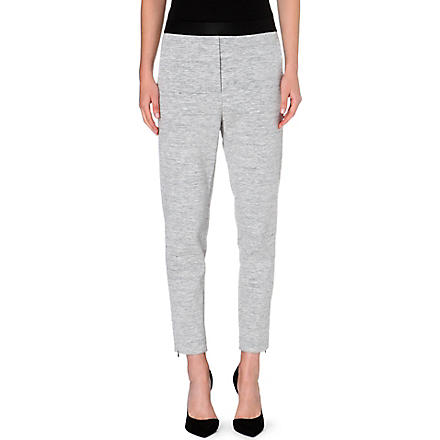 SANDRO Pretenders cotton-blend leggings (Grey
