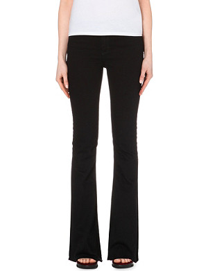 SANDRO Slim-fit bootcut high-rise jeans