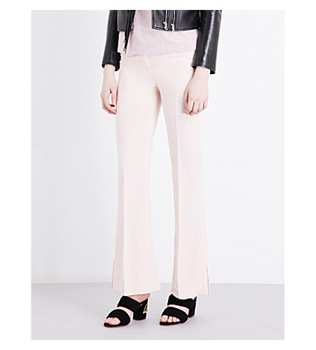 SANDRO Flared high-rise woven pants (Pink