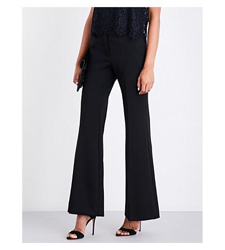 SANDRO Wide-leg stretch-jersey trousers (Black