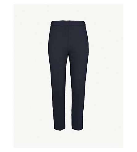 SANDRO Skinny cropped twill trousers (Marine