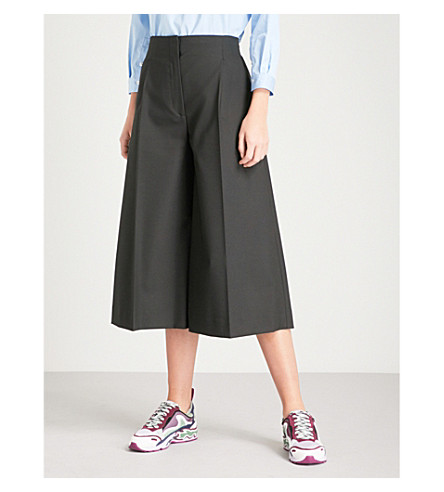 SANDRO Wide-leg woven trousers (Noir