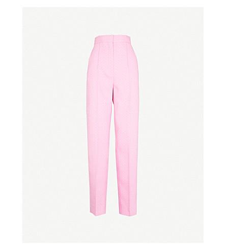 SANDRO Flecked pinstripe straight high-rise woven trousers (Malabar