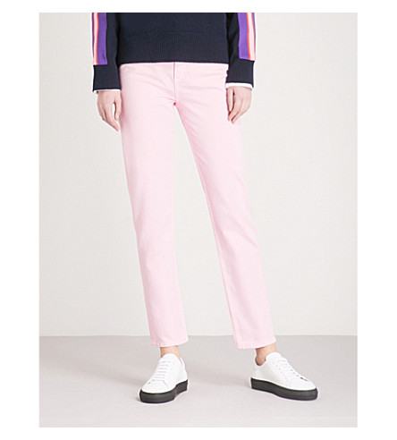 SANDRO Straight cropped high-rise jeans (Rose