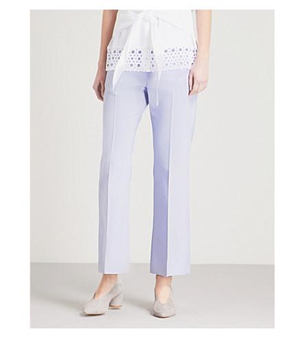 SANDRO Straight cotton-blend trousers (Lavande