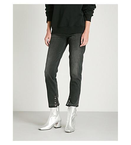 y con SANDRO detalle Jeans ojales Noir gran pitillo qvvE1wX