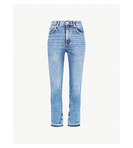 SANDRO Multi-coloured eyelet denim jeans (Blue+vintage+++denim