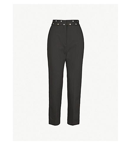 SANDRO 直高腰梭织裤子 (黑色
