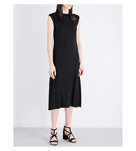 SANDRO Longline knitted dress (Black