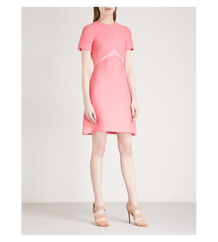 woven woven dress satin SANDRO belt SANDRO Rose satin dress Silk Rose belt Silk 1w8rwqvt