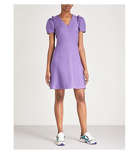 SANDRO Frilled trim woven dress (Mauve