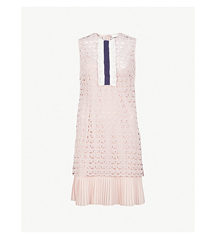 SANDRO Embroidered-lace dress (Poudre