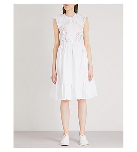 SANDRO Broderie anglaise cotton dress (Blanc