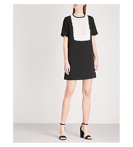 SANDRO Bib front woven dress (Noir