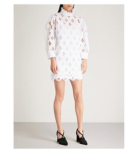 vestido blanco con de volantes SANDRO algodón Mini vafSqWz