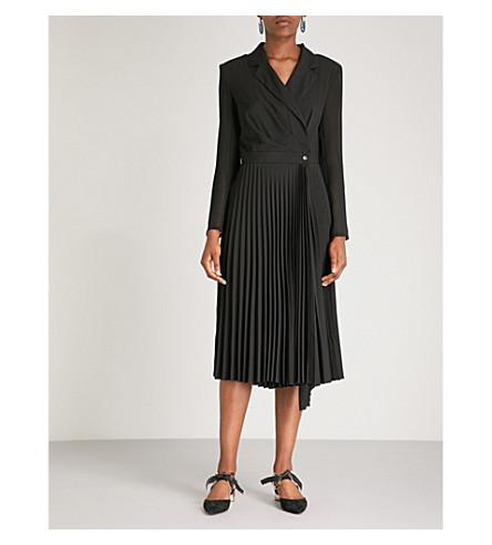 SANDRO 西装衫式褶绉连衣裙 (黑色