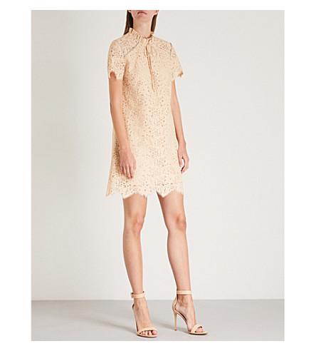 SANDRO Shell mini lace dress Embellished SANDRO Embellished PwdxFqP