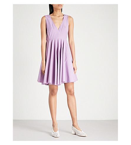 SANDRO Stripe pattern cotton dress (Pink