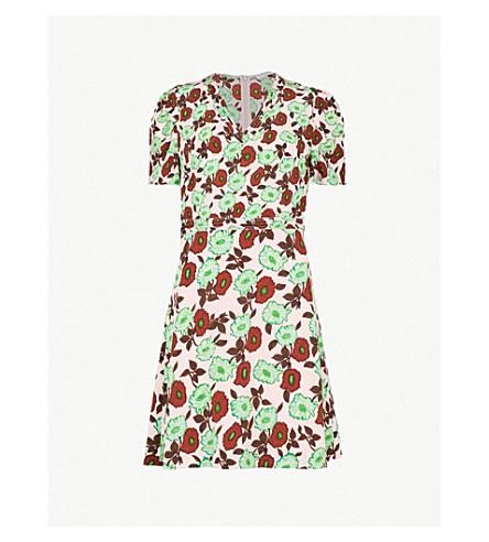 SANDRO Antropique floral-print silk dress (Petal