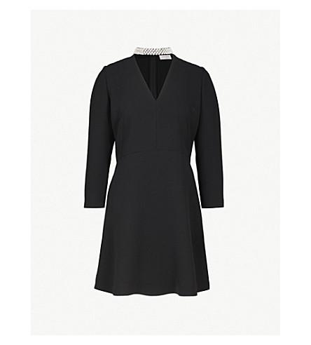 SANDRO 装饰编织连衣裙 (黑色