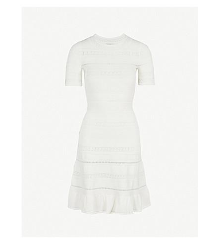 SANDRO Ribbed-knit dress (Ecru