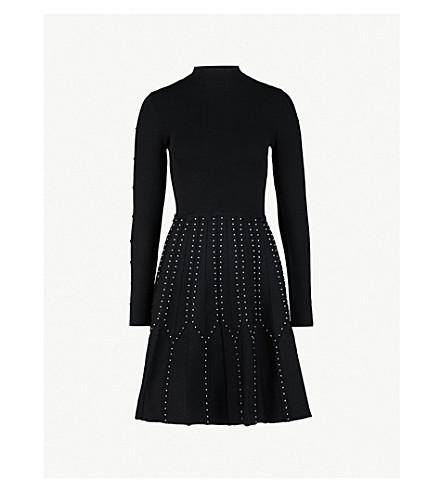 SANDRO 串珠裙针织连衣裙 (黑色