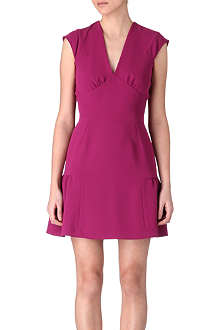 SANDRO Rose crepe dress
