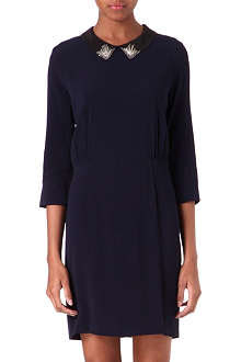 SANDRO Rhodo embellished-collar dress