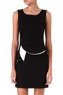 SANDRO Recto peplum-waist dress