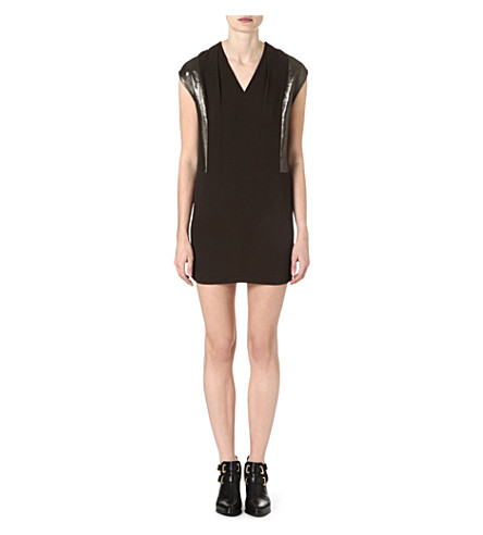 SANDRO Romance v-neck dress (Khaki