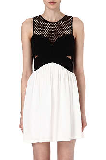 SANDRO Rubis mesh combo dress