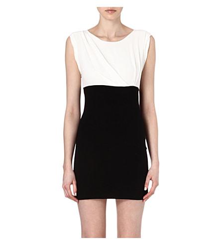 SANDRO Roche combo dress (Ecru