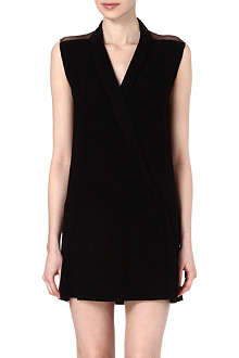 SANDRO Rome mesh wrap dress