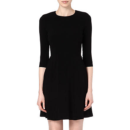 SANDRO Keyhole flared dress (Black