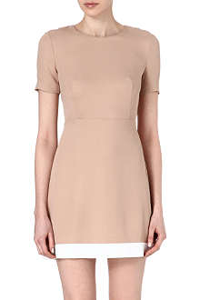 SANDRO Rayon keyhole shift dress
