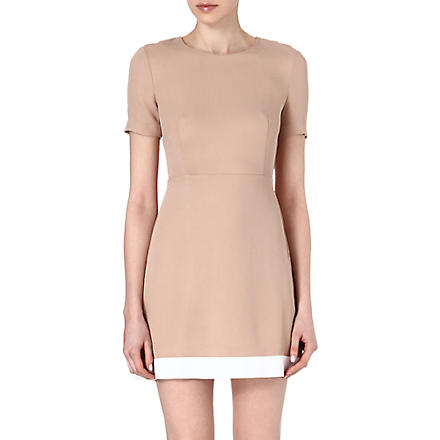SANDRO Rayon keyhole shift dress (Sand