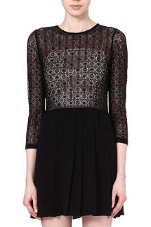 SANDRO Reservee sheer top dress