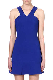 SANDRO V neckline panelled dress
